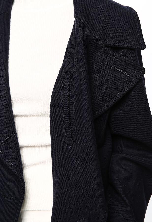 綾織りメルトンロングPコート 9