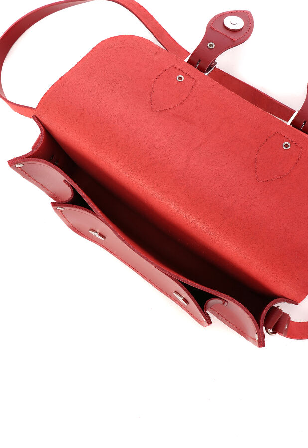"""11"""" Magnetic Satchel Red 6"""