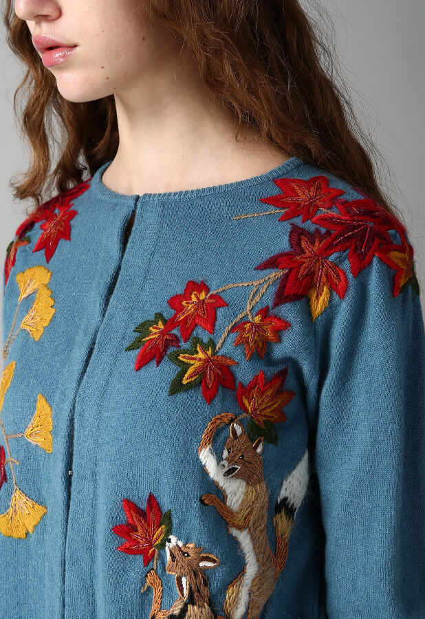 Fox Embroidery Knit CD2 5