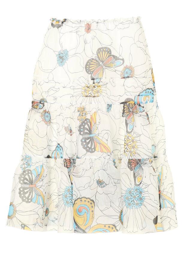 フラワープリントスカート 2