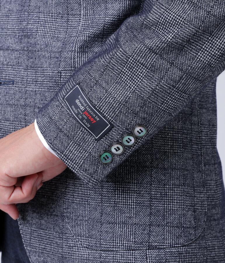 【dondi jersey】グレンチェック / ダブルフェイスジャージーライトウェイトブレザー(2ボタン) 5