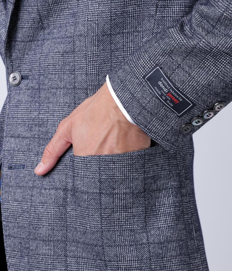【セール】【dondi jersey】グレンチェック / ダブルフェイスジャージーライトウェイトブレザー(2ボタン) 6