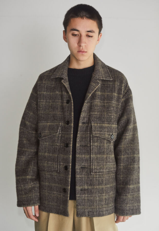 MARKAWARE/マーカウェア ORGANIC SUFFOLK TWEED SHAGGY CPO SHIRT 8