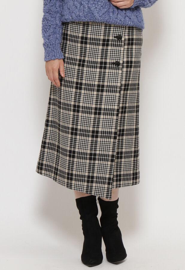 チェックラップスカート 3
