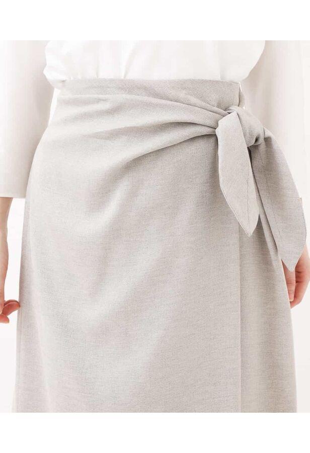 【洗える】リネンライクツイストラップスカート 5