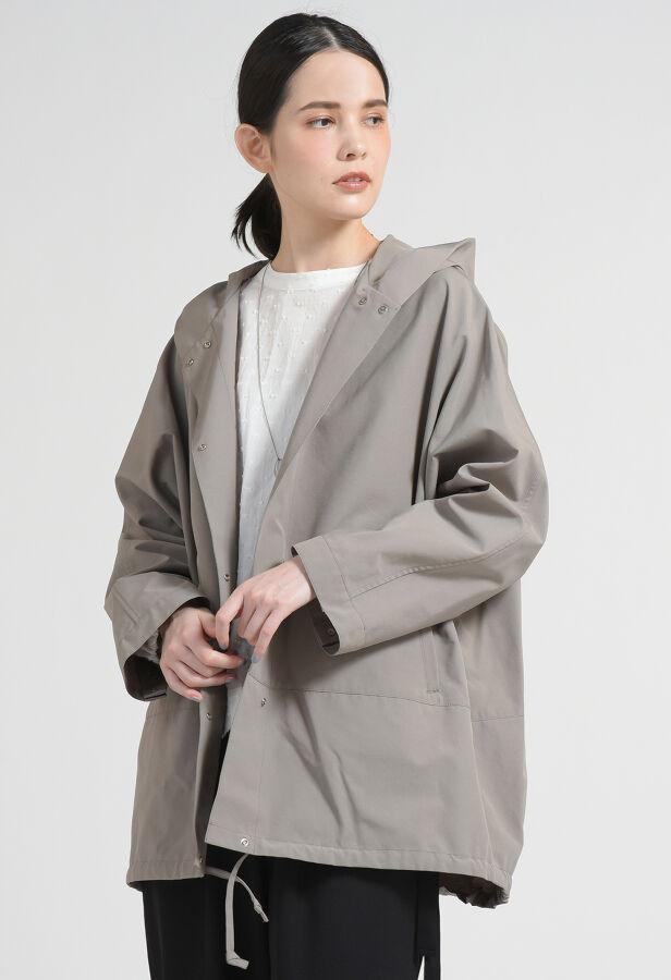 【WEBサイズ別注】グースシェル撥水フーデットジャケットコート