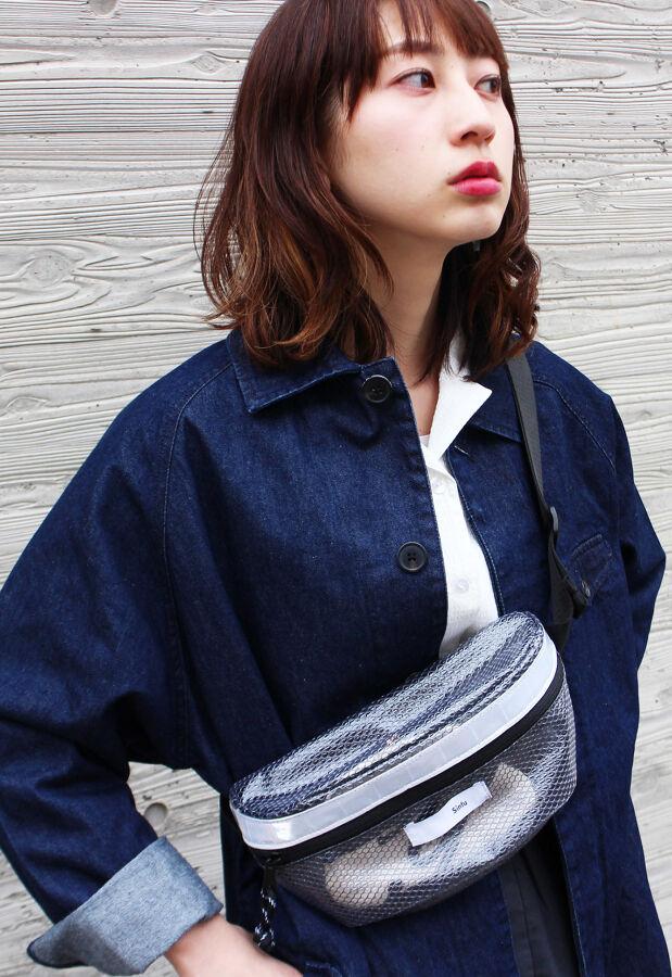 格子ビニールウェストバッグ(lattice vinyl waist bag) 1