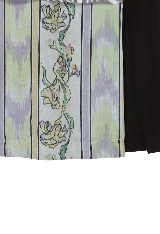 ステア プリント切り替えスカート DOUBLE WOVEN CLOTH SKIRT 10