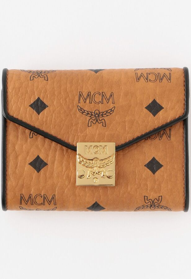 【MCM】WOMEN PATRICIA VISETOS LEATHER BLOCK FLAP WALLET/TRI-FOLDSMALL MYSAAPA05 46
