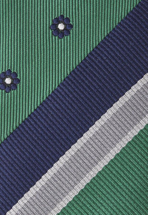 スラントクレリックレジメンタル小紋タイ GREEN 3