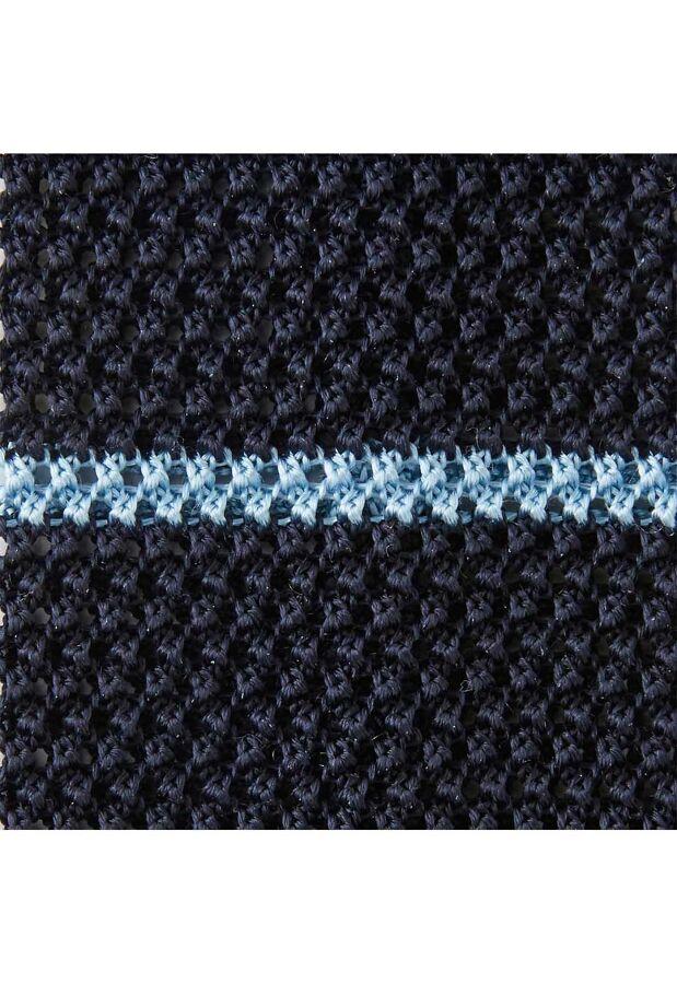 リバーシブルシルクニットボーダータイ NAVY×LT.BLUE 3