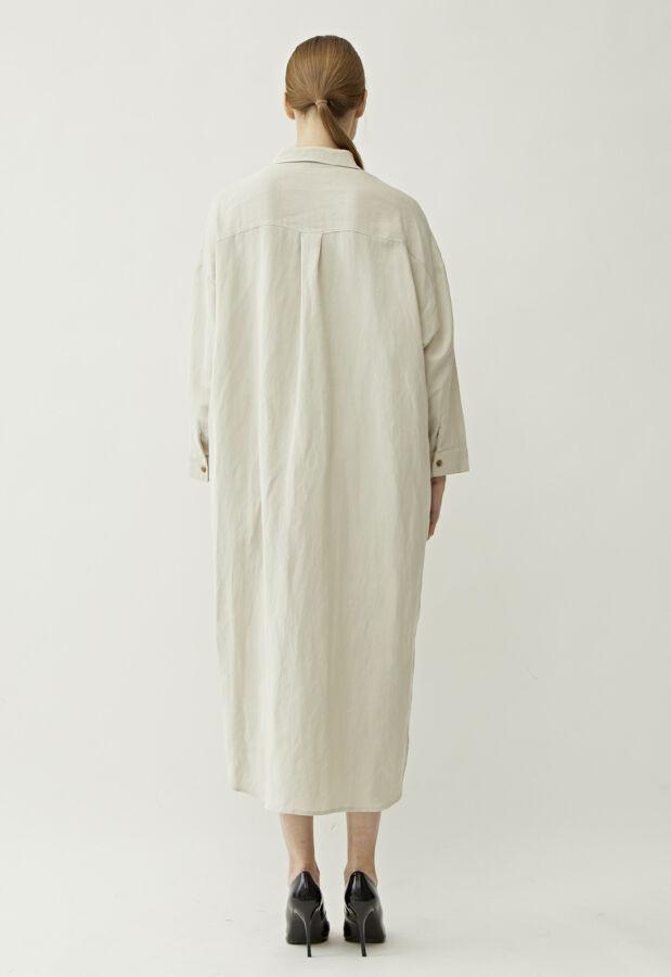 アウターサンセット hand wash linen long shirt 17