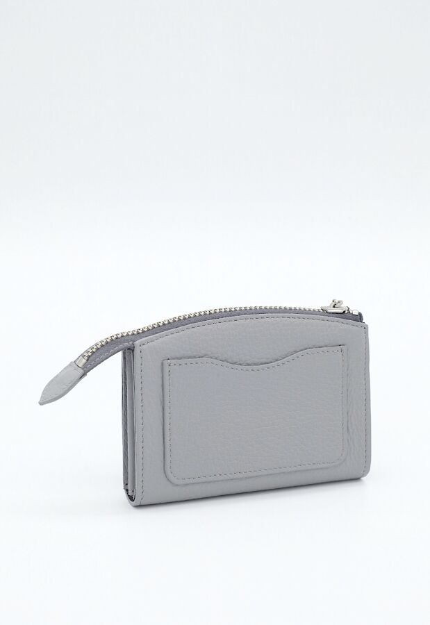 Brick /スモールウォレット グレー COW LEATHER SMALL WALLET GRAY×SILVER / 財布 4